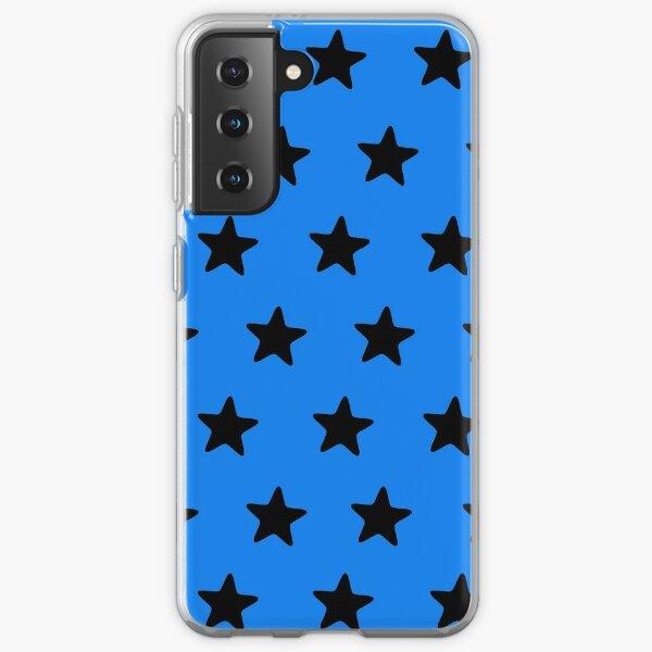 Black n blue Samsung Galaxy Soft Case
