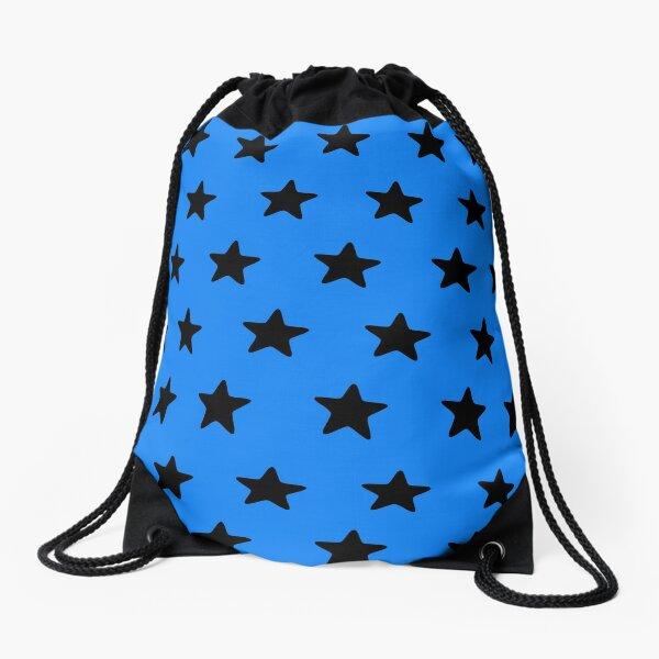 Black n blue Drawstring Bag