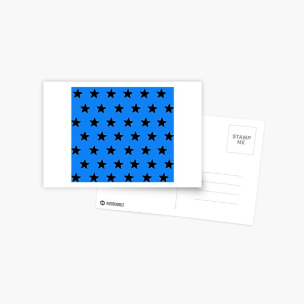 Black n blue Postcard