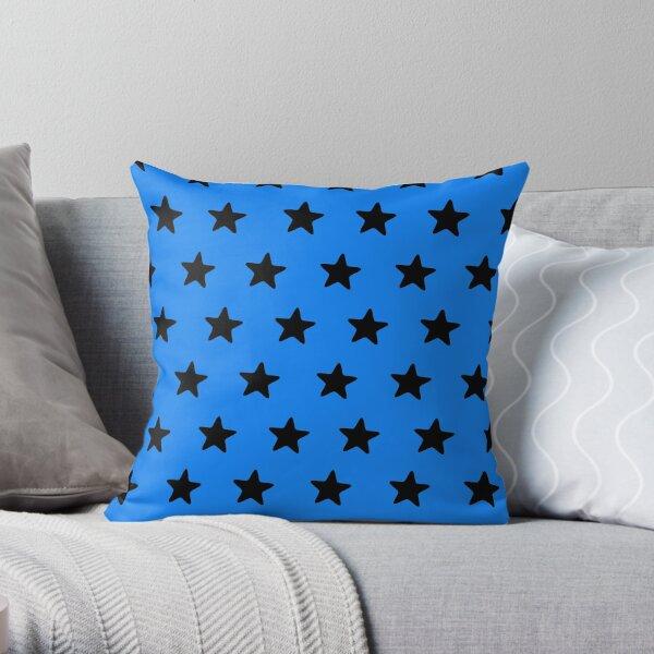 Black n blue Throw Pillow