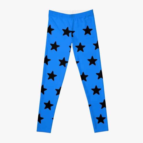 Black n blue Leggings