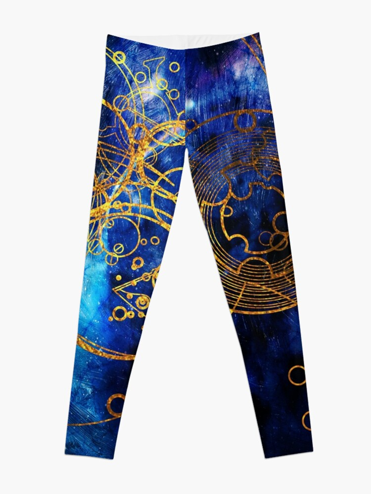 Alternate view of Time Lord Writing (blue) Leggings
