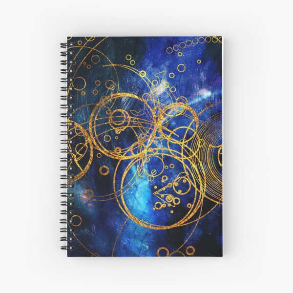 Time Lord Writing (blue) Spiral Notebook