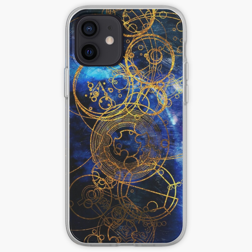 Time Lord Writing (blue) iPhone Case & Cover