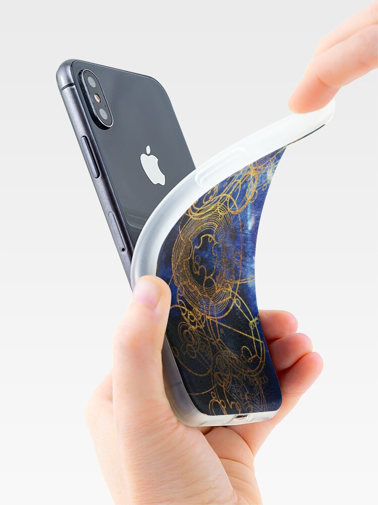 Alternative Ansicht von Time Lord Writing (blau) iPhone-Hülle & Cover