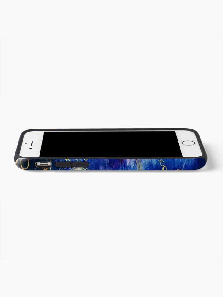 Alternate view of Time Lord Writing (blue) iPhone Case & Cover