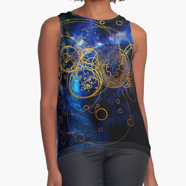 Time Lord Writing (blue) Sleeveless Top