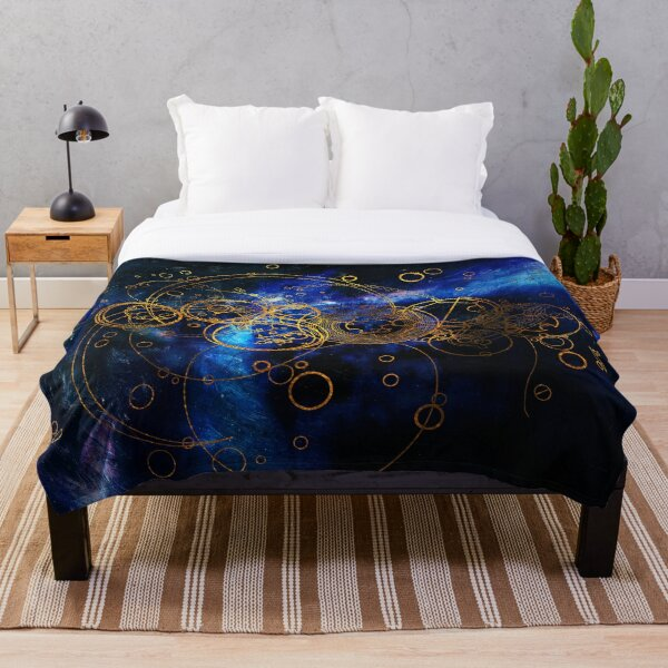 Time Lord Writing (blue) Throw Blanket