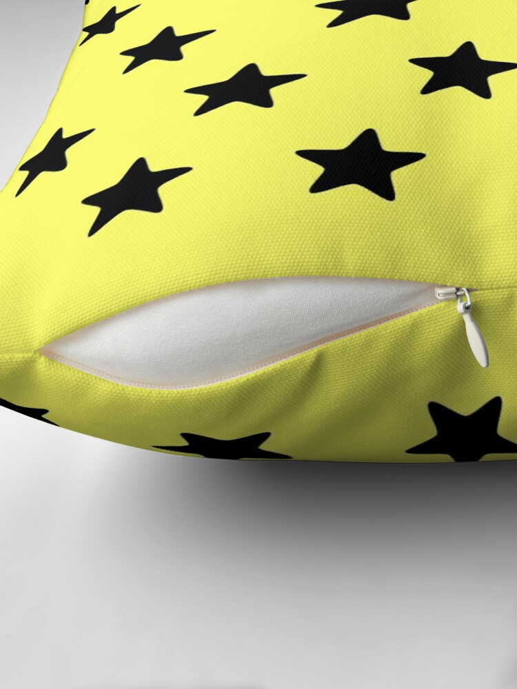 Alternate view of Be yellow Throw Pillow