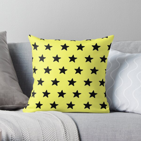 Be yellow Throw Pillow