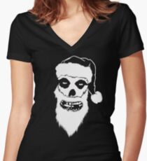 A Misfits Christmas Women's Fitted V-Neck T-Shirt