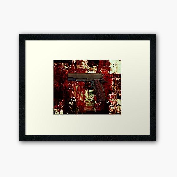 Blood And Fire Framed Art Print