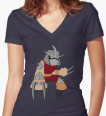 Chibi Mirage Shredder Women's Fitted V-Neck T-Shirt