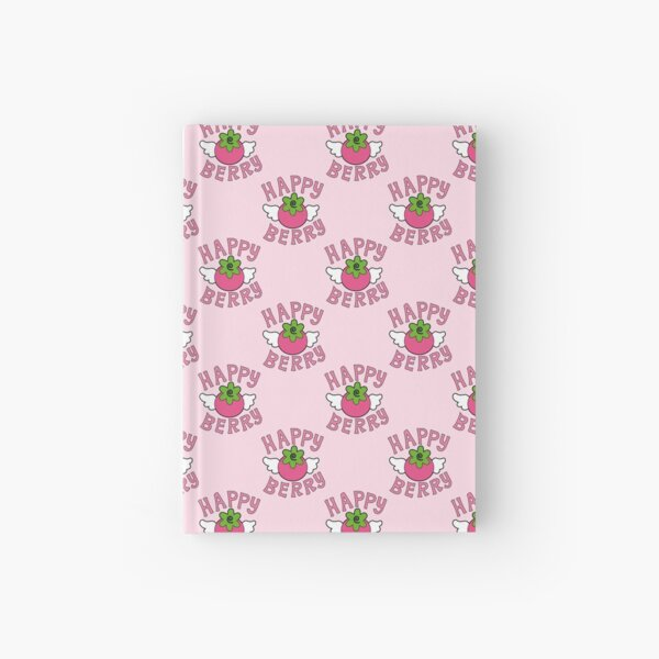 Happy Berry pattern Hardcover Journal