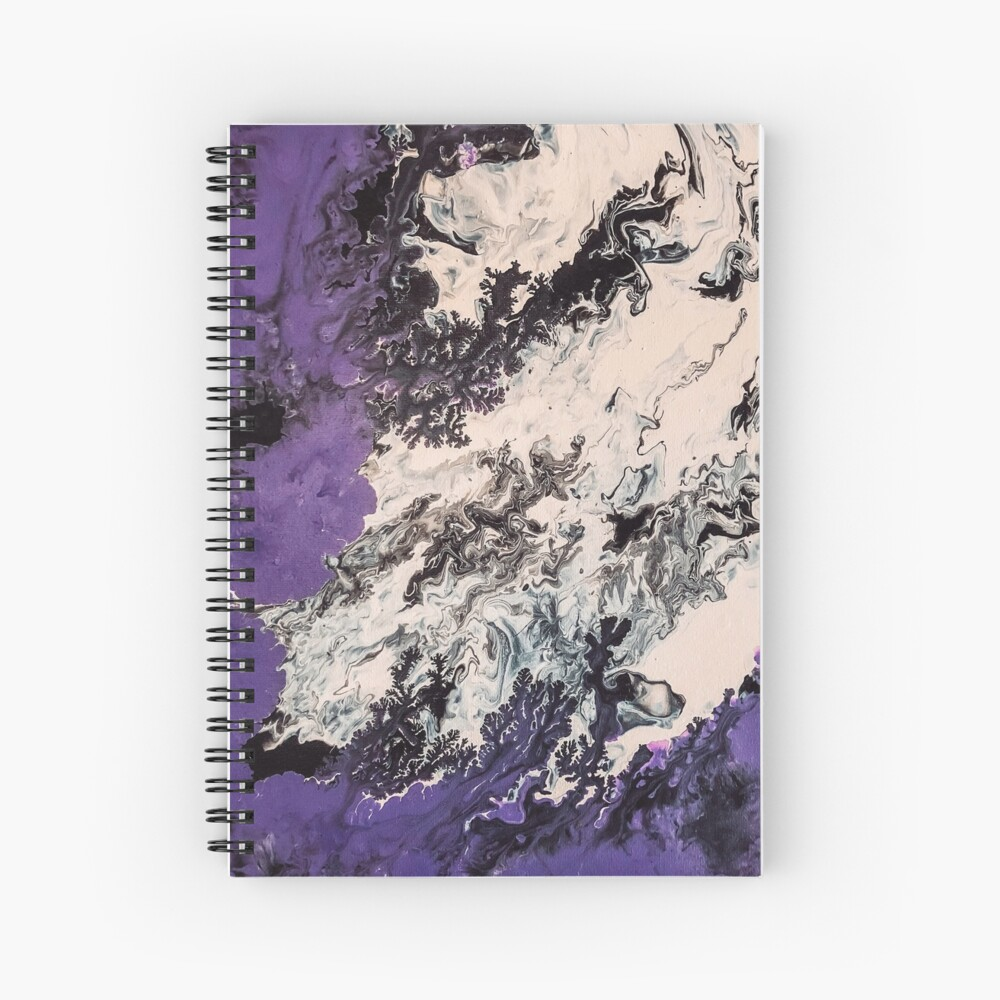 Free Pour Skull Spiral Notebook