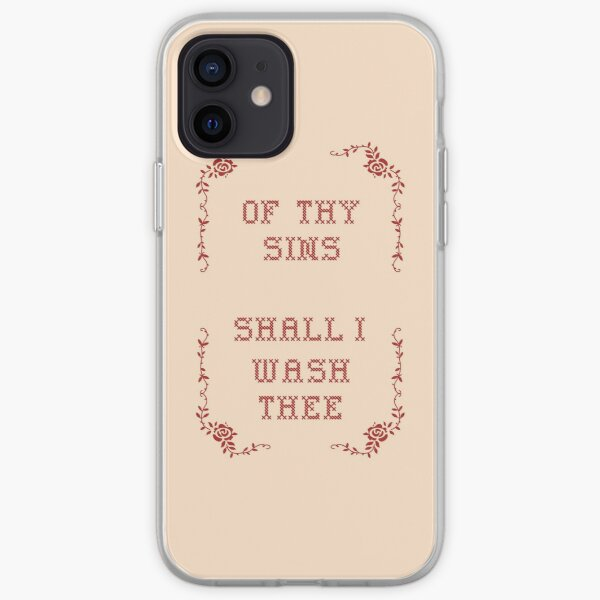 Of Thy Sins Shall I Wash Thee iPhone Soft Case
