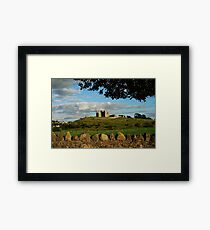 Rock of Cashel with a stone wall Framed Print