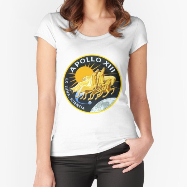 Apollo 13 Mission Logo Fitted Scoop T-Shirt