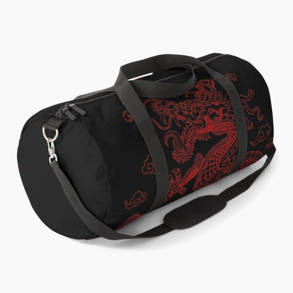 Chinese Red Dragon Duffle Bag