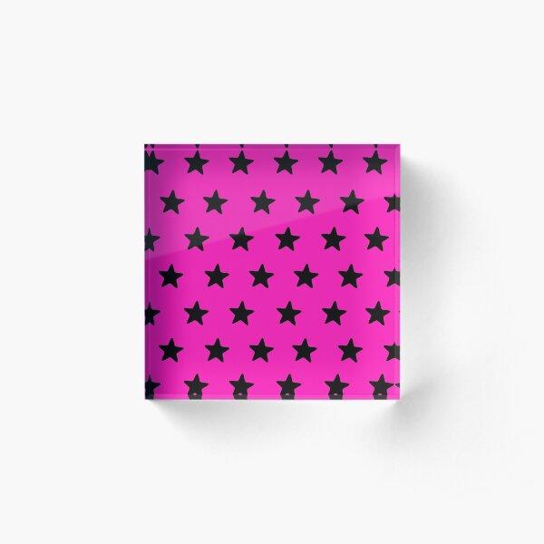 Starry pinksation Acrylic Block
