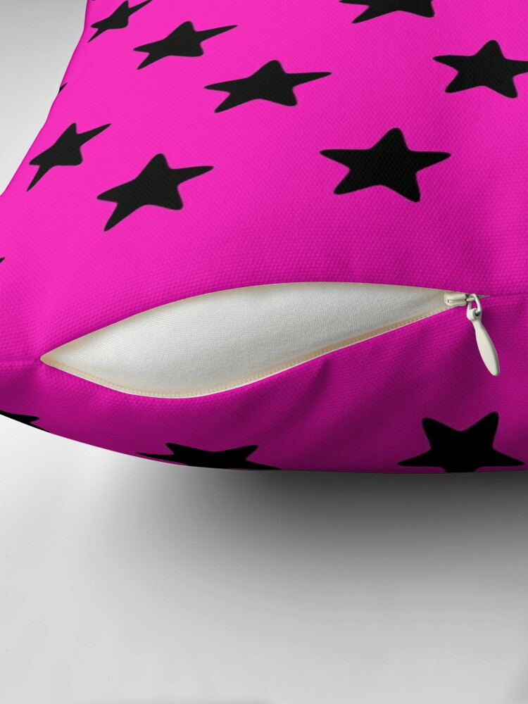 Alternate view of Starry pinksation Throw Pillow