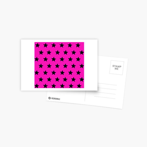 Starry pinksation Postcard
