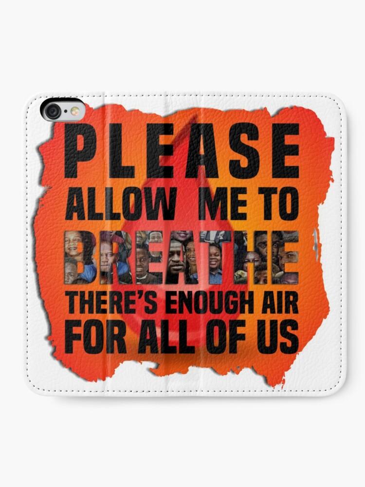Alternate view of Please Let Me Breathe iPhone Wallet