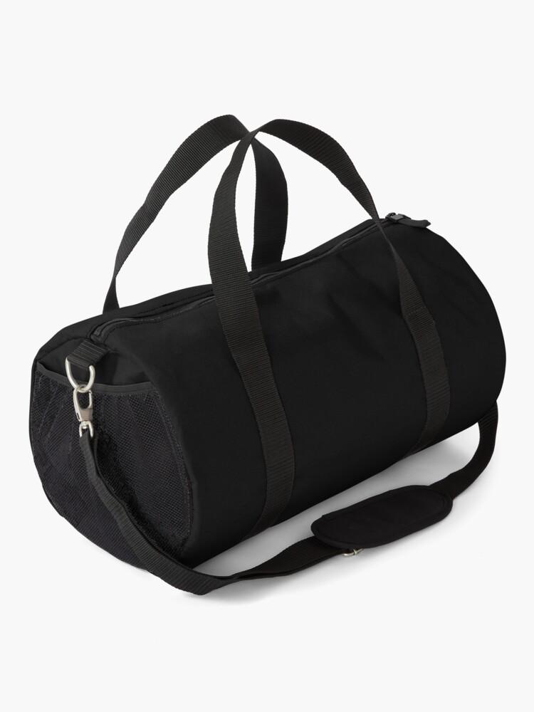 Alternate view of all black Duffle Bag