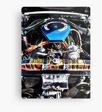 American Muscle Car Engine Metal Print