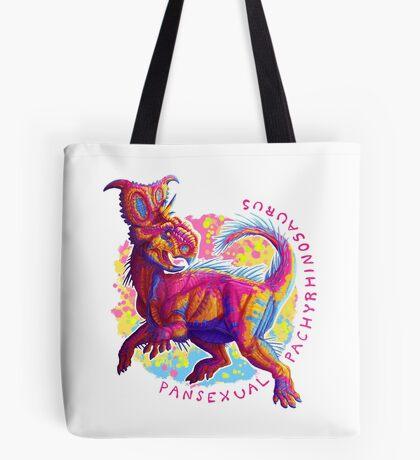 Pansexual Pachyrhinosaurus (with text)  Tote Bag