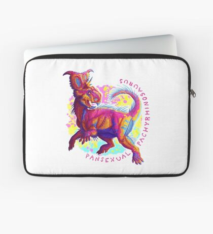 Pansexual Pachyrhinosaurus (with text)  Laptop Sleeve