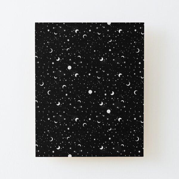 Black Universe Wood Mounted Print