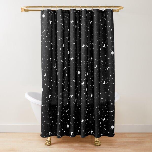 Schwarzes Universum Duschvorhang