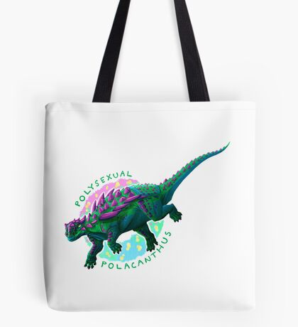 Polysexual Polacanthus (with text)  Tote Bag