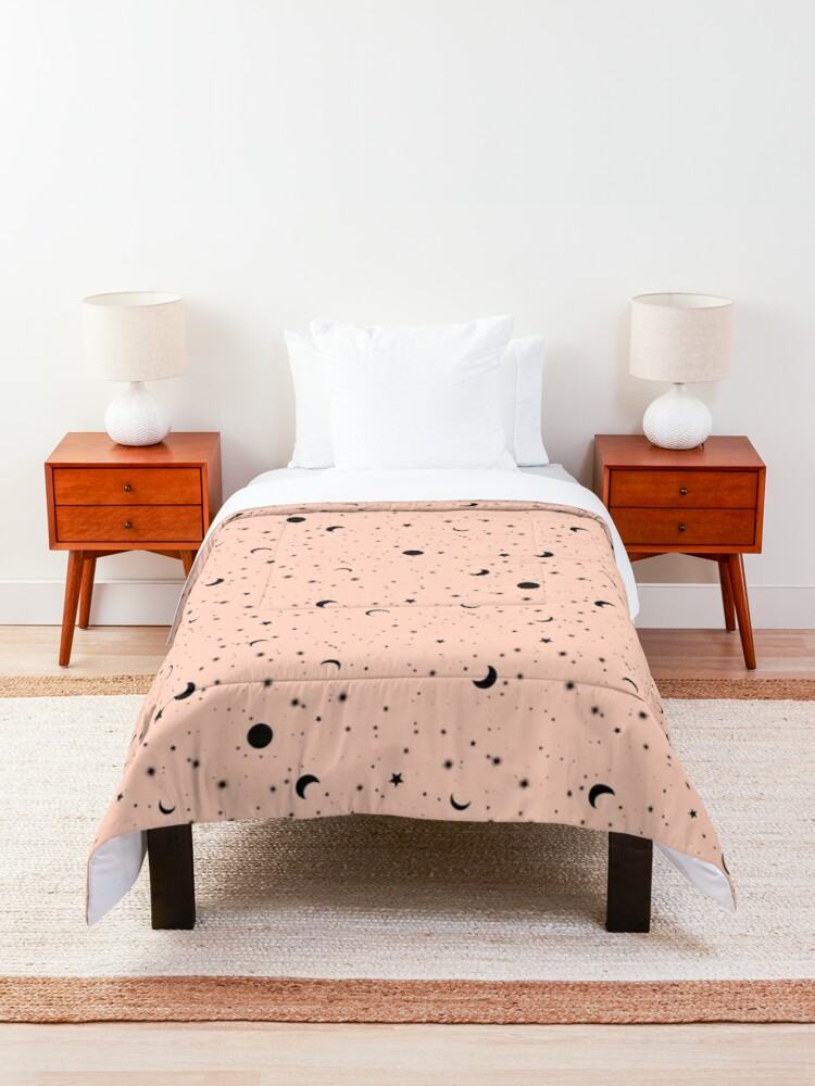 Alternate view of Universe on Pink Comforter