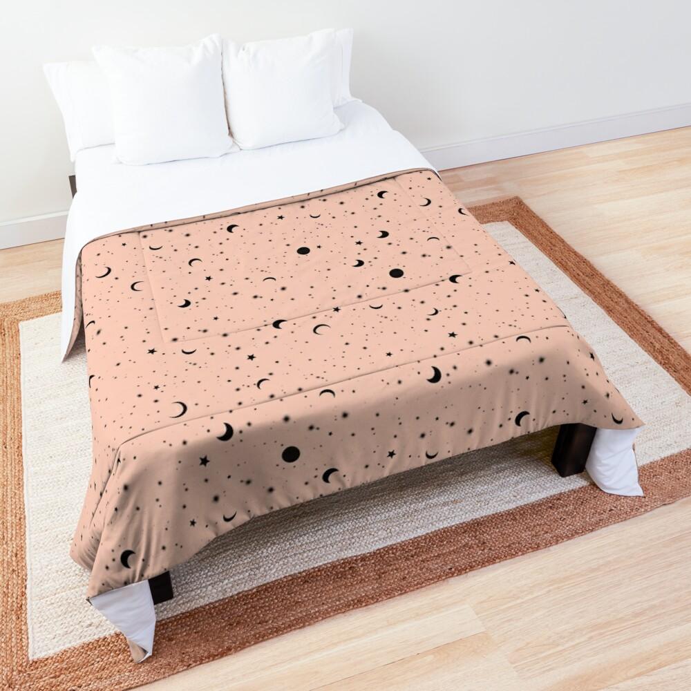 Universe on Pink Comforter