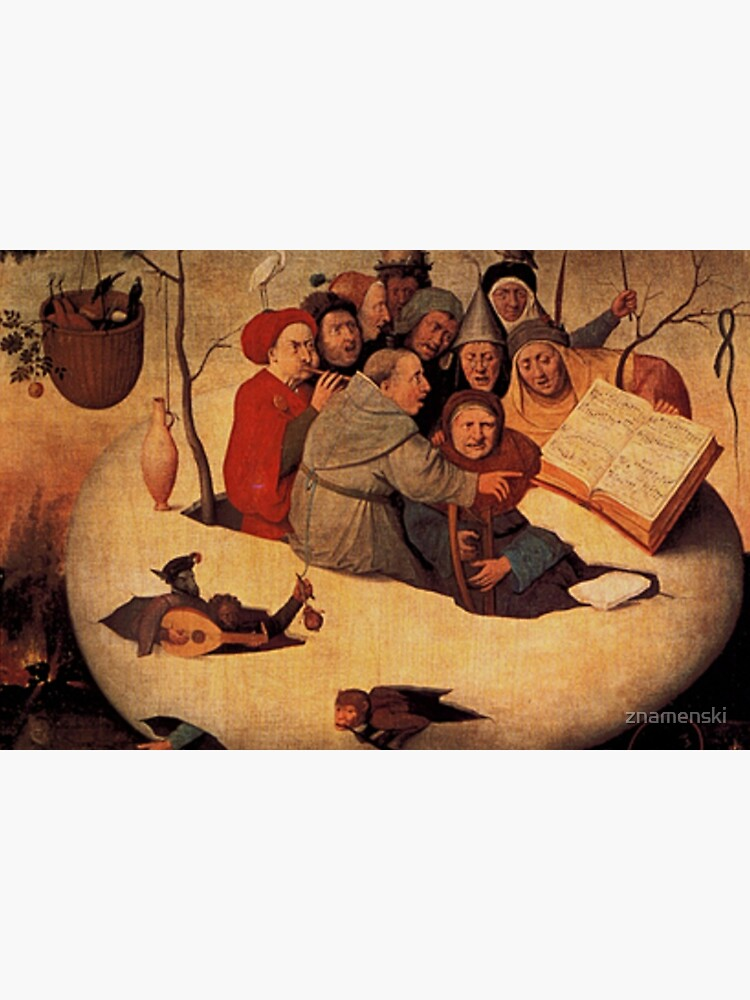 Concert in the Egg Painting by Hieronymus Bosch by znamenski