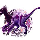 Demisexual Deinocheirus (with text)  by R.A.  Faller
