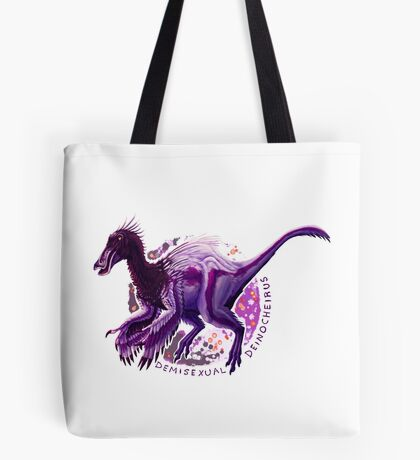 Demisexual Deinocheirus (with text)  Tote Bag