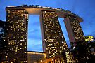 Marina Bay Sands Hotel, Singapore, at Twilight by Carole-Anne