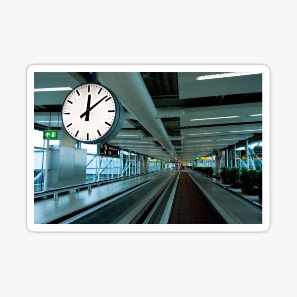 Departure Time 12:20 Sticker