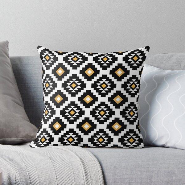 Aztec geometric pattern Throw Pillow