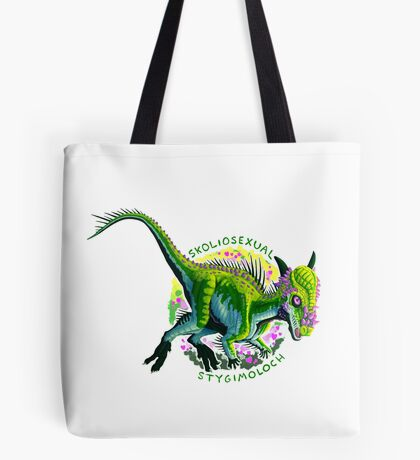 Skoliosexual Stygimoloch (with text)  Tote Bag