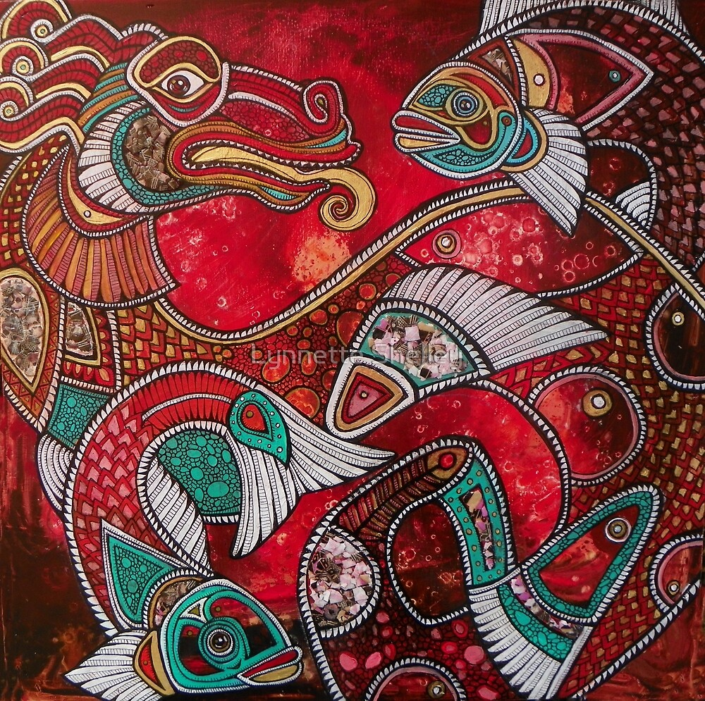 Quot Swimming With Fire The Koi Dragon Quot By Lynnette Shelley