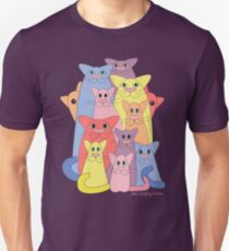 Twelve Cats For Happiness Unisex T-Shirt