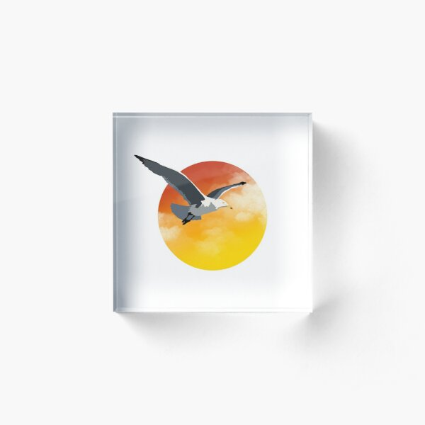 Seagulls n Sunsets Acrylic Block