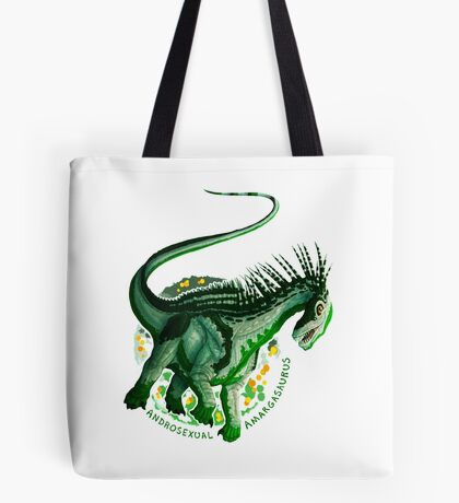 Androsexual Amargasaurus (with text)  Tote Bag