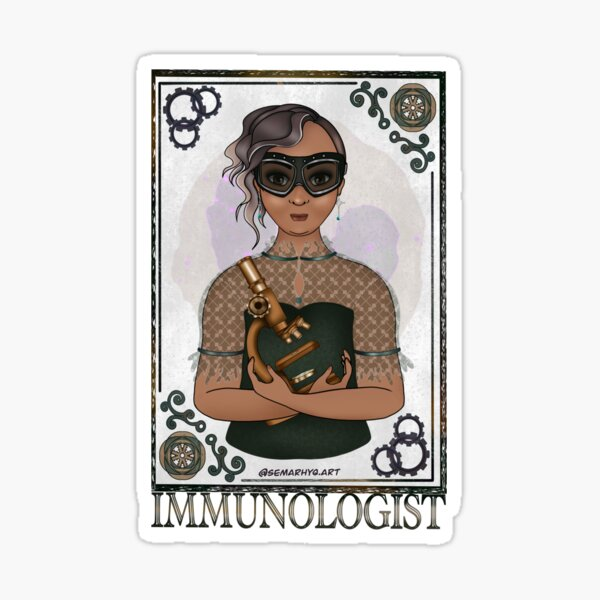 Immunologist (STEAMpunk Art) Sticker