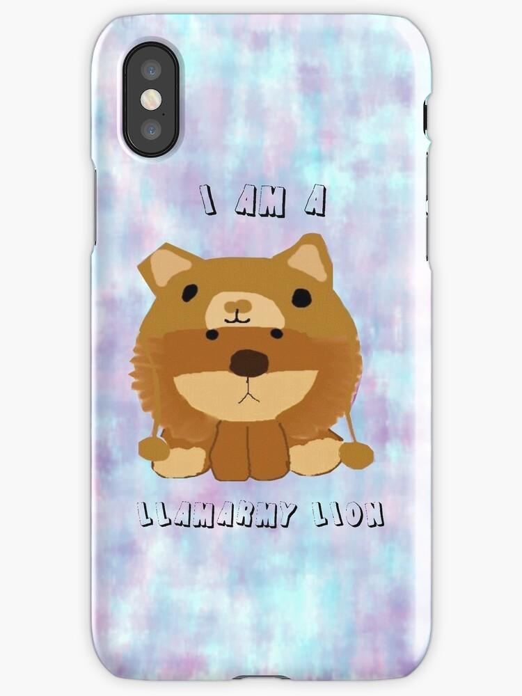 LLAMARMY LION!! (iPhone Case) by Kati Wightman