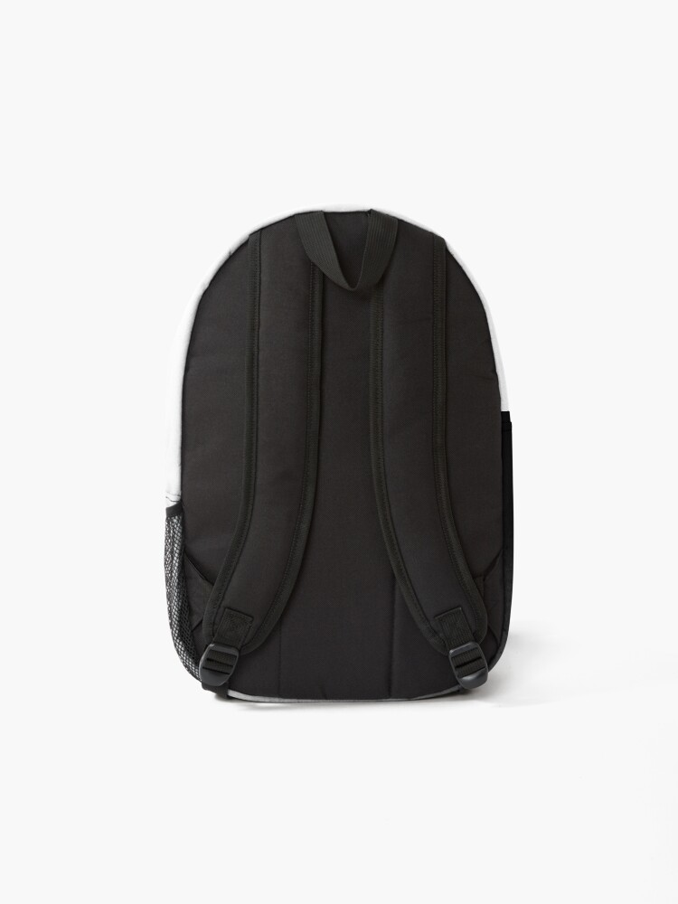 Alternate view of Black Ombre on Concrete Texture Backpack